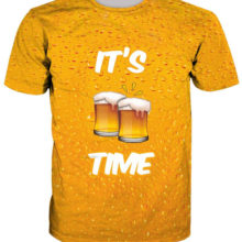"""3D """"It's Beer Time"""" all-over-print men's t-shirt"""